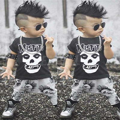 2pcs Toddler Kids Baby Boys T-shirt Tops+Long Pants Trousers Outfits Clothes Set