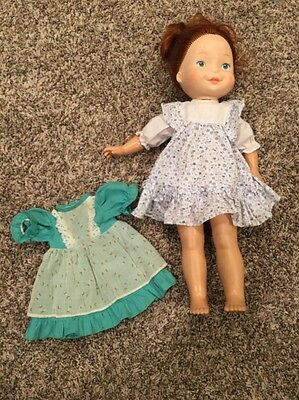 Vtg 1981 FISHER PRICE MY FRIEND BECKY Red Haired Doll w/Original Dress