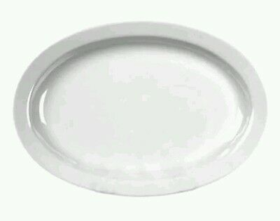 "11.5"" X 8"" OVAL WHITE MELAMINE PLATTERS - Luncheon Platters-12 Plates"