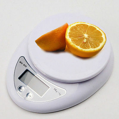 Digital Kitchen Scale Compact Diet Food 5KG 11LBS x 1g w/ Bowl Electronic WeigFF