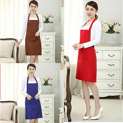 Women Waiter Aprons With Pockets Restaurant Kitchen Cooking Shop Art Work Apron