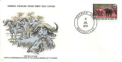 (44131) Congo FDC Cape Buffalo - 11 July 1978