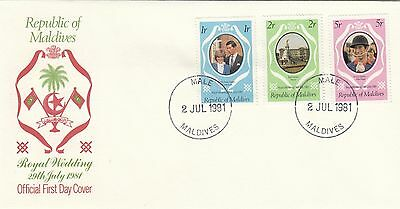 (45999) Maldives FDC Princess Diana Wedding 2 July 1981