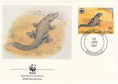 (72506) Congo FDC Crocodile WWF 22 January 1987