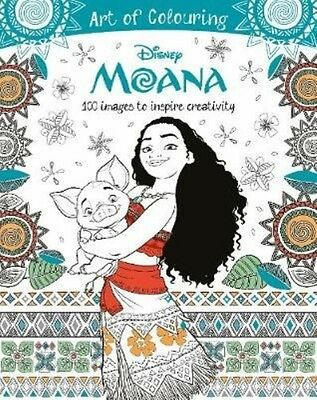 Disney Moana Art of Colouring by Parragon Books Ltd Paperback Book