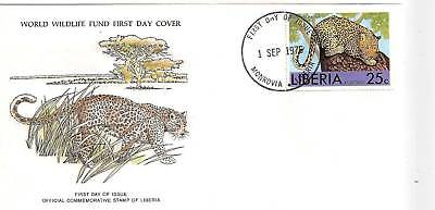 (44145) Liberia WWF FDC Leopard - 1 September 1976