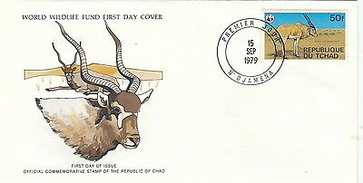 (44141) Chad WWF FDC Dessert Addax / Gazelle - 15 September 1979