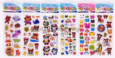 Wholesale!3D Stereoscopic Animation Cartoon Puffy Sticker Pvc A Lot Of Kids Gift