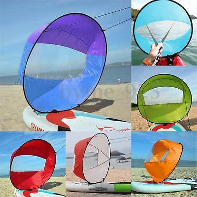 42'' Downwind Wind Paddle Popup Kayak Canoe Sail Wind Kayak Accessories Portable