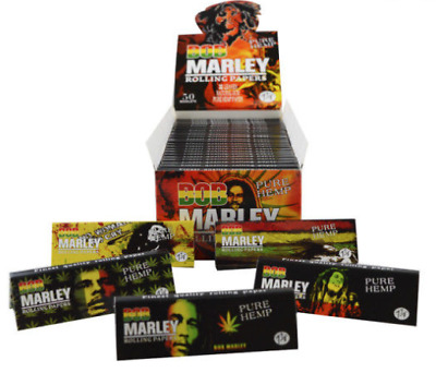 Bob Marley Pure Hemp Tobacco Cigarette Rolling Papers 32 Leaves 1 1/4
