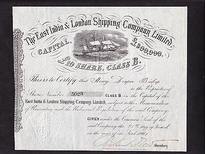East India & London Shipping - 1861