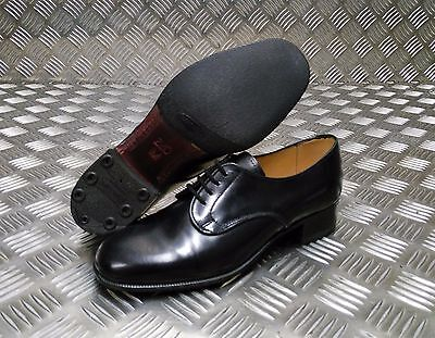 Genuine British  Military Issue Sanders Womens Service Lea  Black Leather Shoes
