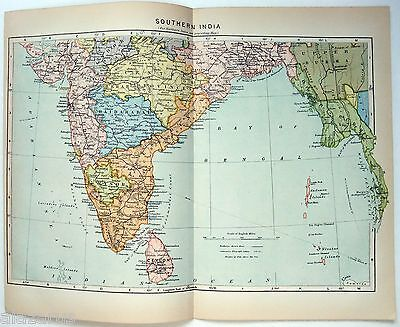Original Johnson's 1896 Map of Southern India