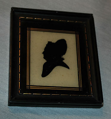 Antique Martha Washington Silhouette, Estate Find, Period Frame Made In Germany