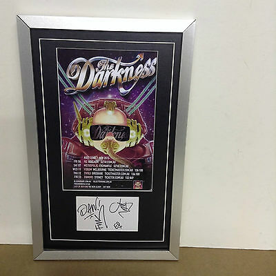 The Darkness Hand Signed/Autographed Card with a Photo & COA