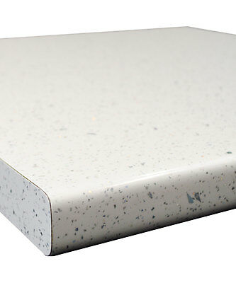 White Sparkle Gloss Laminate Kitchen Worktop