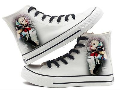 Movie Suicide Squad Harley Quinn High Top Unisex Canvas Shoes Trainers Men&Women
