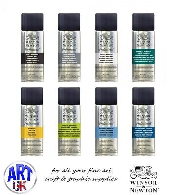 Winsor & Newton professional artists SPRAY VARNISH 150/400ml aerosol can picture