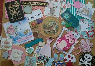 Lucky dip  card  making kit. craft room clearout, 40 + pieces