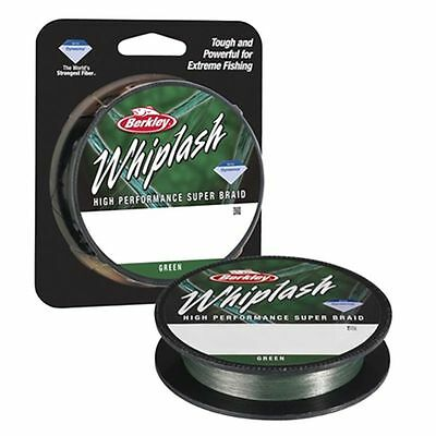 Berkley Whiplash Pro Green Super-Braid Fishing line 300 metres 330 yards Spools