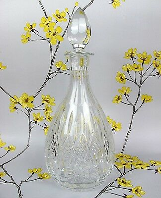 Great quality vintage hand cut lead crystal glass Wine or Spirits DECANTER.