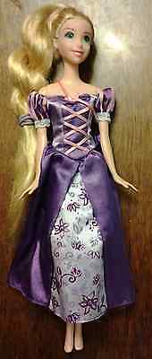 "Tangled Disney Princess RAPUNZEL 10.5"" Doll Mattel with Purple Gown"