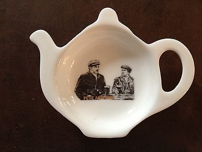 PETER COOK AND DUDLEY MOORE CERAMIC TEA BAG TIDY HOLDER Not only but Also
