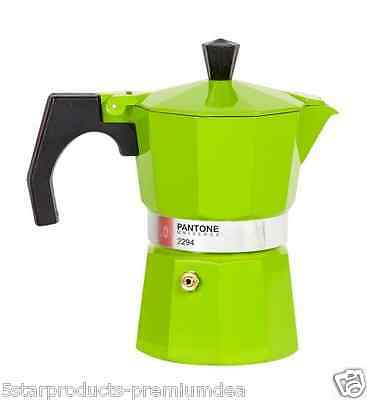 New Pantone Stovetop Coffee Maker 3 Cup Cups Kitchen Aluminium Espresso Beans