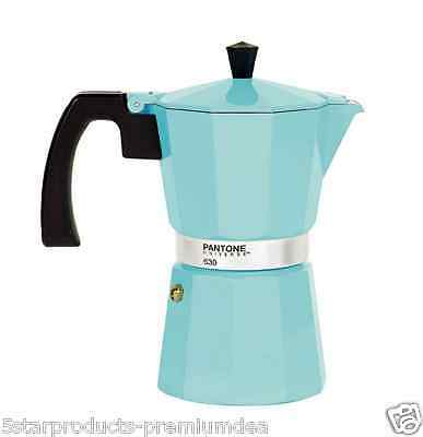 New Pantone Stovetop Coffee Maker 6 Cup Cups Kitchen Aluminium Espresso Beans