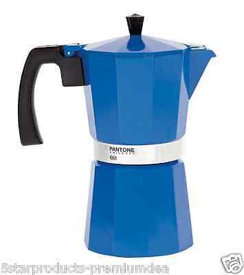New Pantone Stovetop Coffee Maker 9 Cup Cups Kitchen Aluminium Espresso Beans