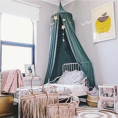 Kid Baby Bedding Round Dome Bed Canopy Netting Mosquito Net Curtain Decor