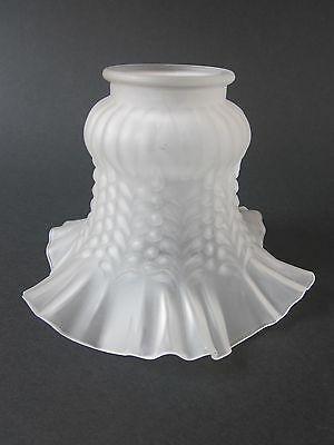 A Vintage / Antique Edwardian Style Frosted Glass Frilly Lightshade / Lampshade.