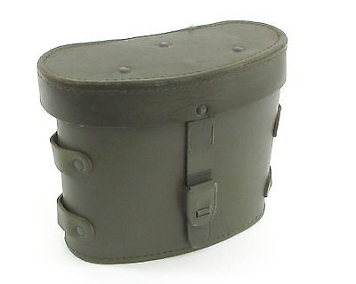 French Military Memorabilia Green Leather Binocular Case
