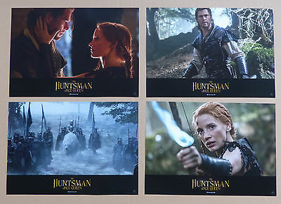 THE HUNTSMAN & THE ICE QUEEN - Lobby Cards Set of 4 - Chris Hemsworth, C. Theron
