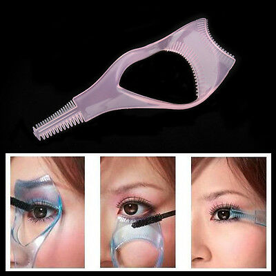 Eyelash Brush Curler Mascara Guard- 3 in 1 Applicator Tool Stencil Shield Guide