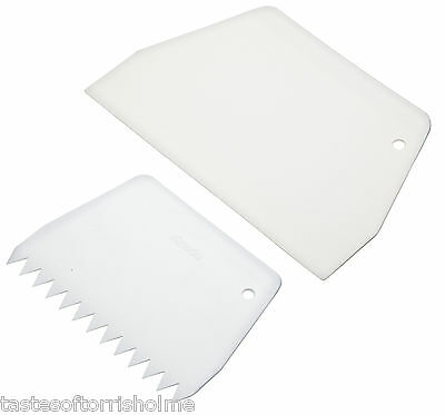 Sweetly Does It Sugarcraft Fondant Icing Smoother Scraper & Comb Set of 2