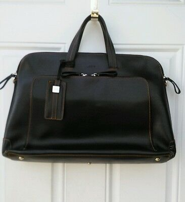 Lodis Brown Leather Business Briefcase