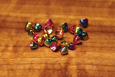 RAINBOW BRASS CONES  -- Fly Tying  New Deadly  Conehead