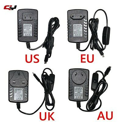 5v 2.5A Micro USB Charger Power Adapter For Raspberry Pi 2 3 Tablet US EU UK AU