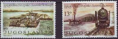 Yugoslavia 1981 SG 2001-2002 (Sc 1548-9) MNH - Danube Commission 125 years