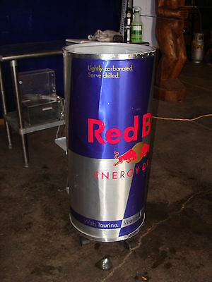 Red Bull  / Soda / Pop Rolling Ice Bin Reach In Container Display + Two Shelves