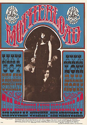 MINT Janis Joplin Griffin 1967 FD 60 MOTHERLOAD Family Dog Avalon Poster