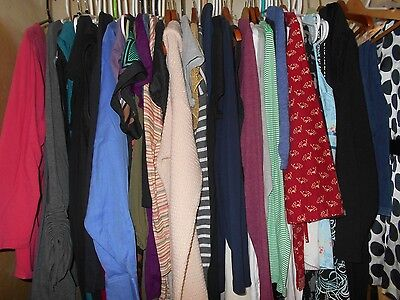 Maternity Lot  -  size Large - 8 to 9 beautiful items! FREE SHIPPING!!