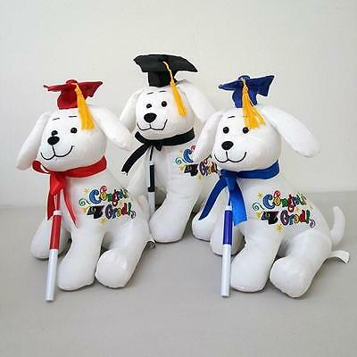"10"" Congrats Grad Graduation Dog w/Signing Autograph Pen Stuffed Animal Gift Toy"