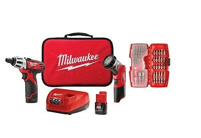 Milwaukee Cordless Screwdriver Set Kit Tool Rechargeable Bit Lithium