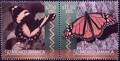 Mexico 2016 Mex - Jamaica Diplomacy 50th Anniv Monarch Giant Butterfly Wildlife