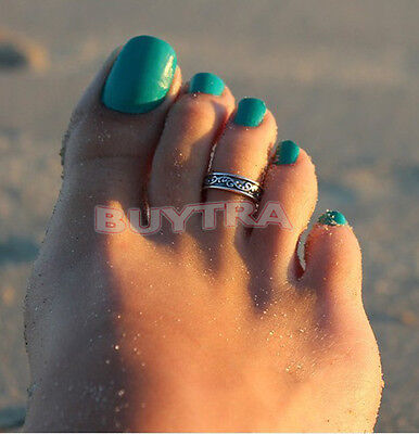 Hot Silver Toe Ring Metal Material Sterling Silver Jewelry Hawaiian Beach SU