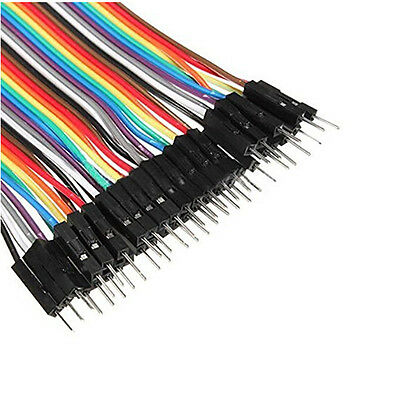 40pcs Dupont 10CM Male To Female Jumper Wire Ribbon Cable for Arduino Great  OZ