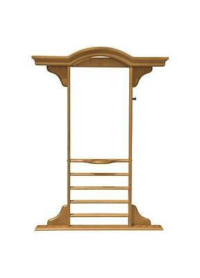 Sterling Gaming Deluxe Wall-Mount Cue Rack in Oak Finish [ID 31459]