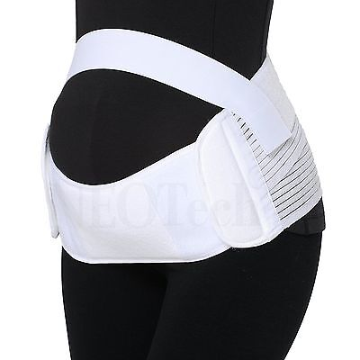 Maternity Pregnancy Support Belt Brace Belly Band NEOtech Care T007 White Small